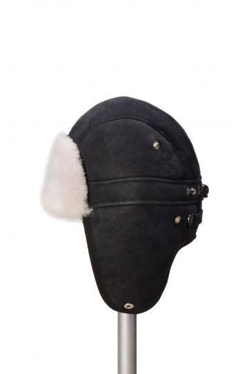 Pegia Hakiki Kürklü Şapka 19SB09 Siyah