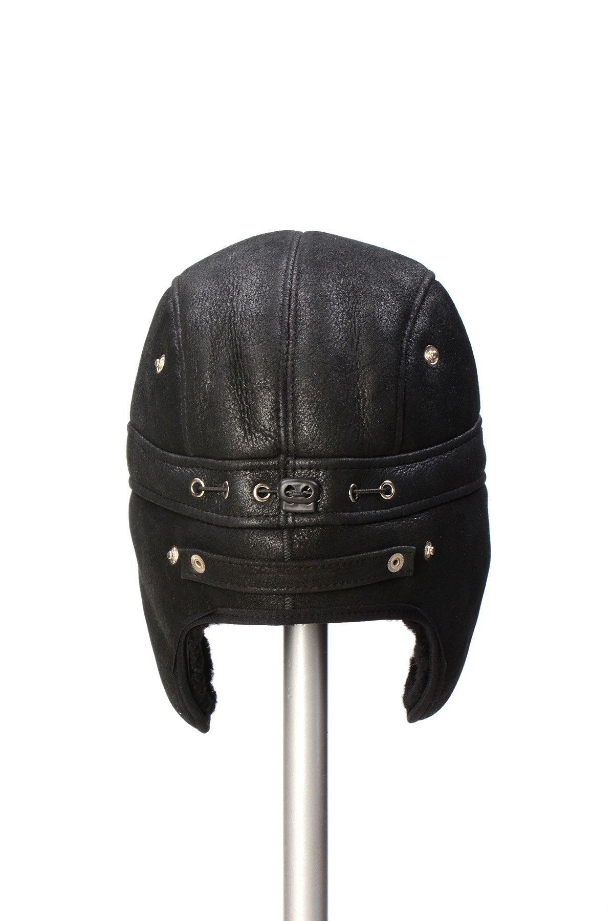 Pegia Hakiki Kürklü Şapka 19SB10 Siyah