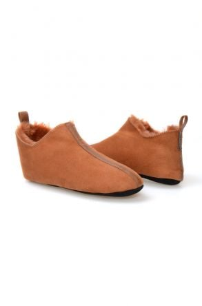 Pegia Genuine Suede Sheepskin Men's Home Slippers  980435 Ginger