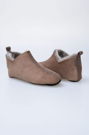 Pegia Genuine Suede Sheepskin Men's House Slippers 980469 Brown