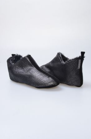 Pegia Hakiki Kürklü Süet Erkek Ev Ayakkabısı 980483 Bronz