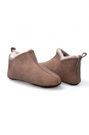 Pegia Hakiki Kürklü Süet Erkek Ev Ayakkabısı 980558 Kahve
