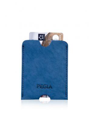 Pegia Hakiki Nubuk Deri Kartlık Cüzdan 19CZ202 Mavi