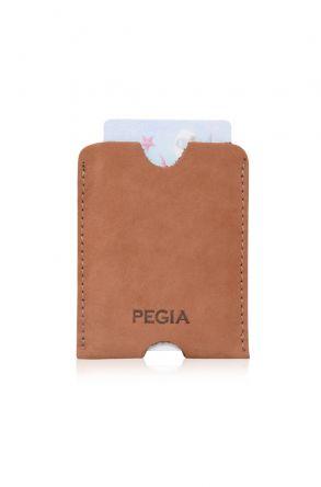 Pegia Genuine Nubuck Leather Cardholder 19CZ202 Brick-red