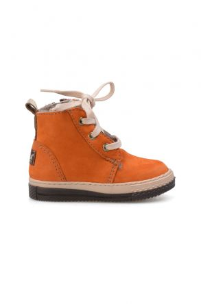 Pegia Genuine Sheepskin Lined Kid's Boots 186024 Orange