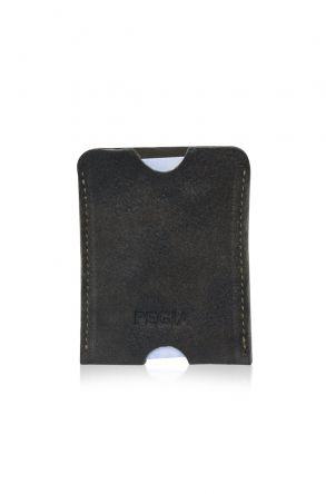 Pegia Genuine Suede Cardholder 19CZ228 Dark Gray