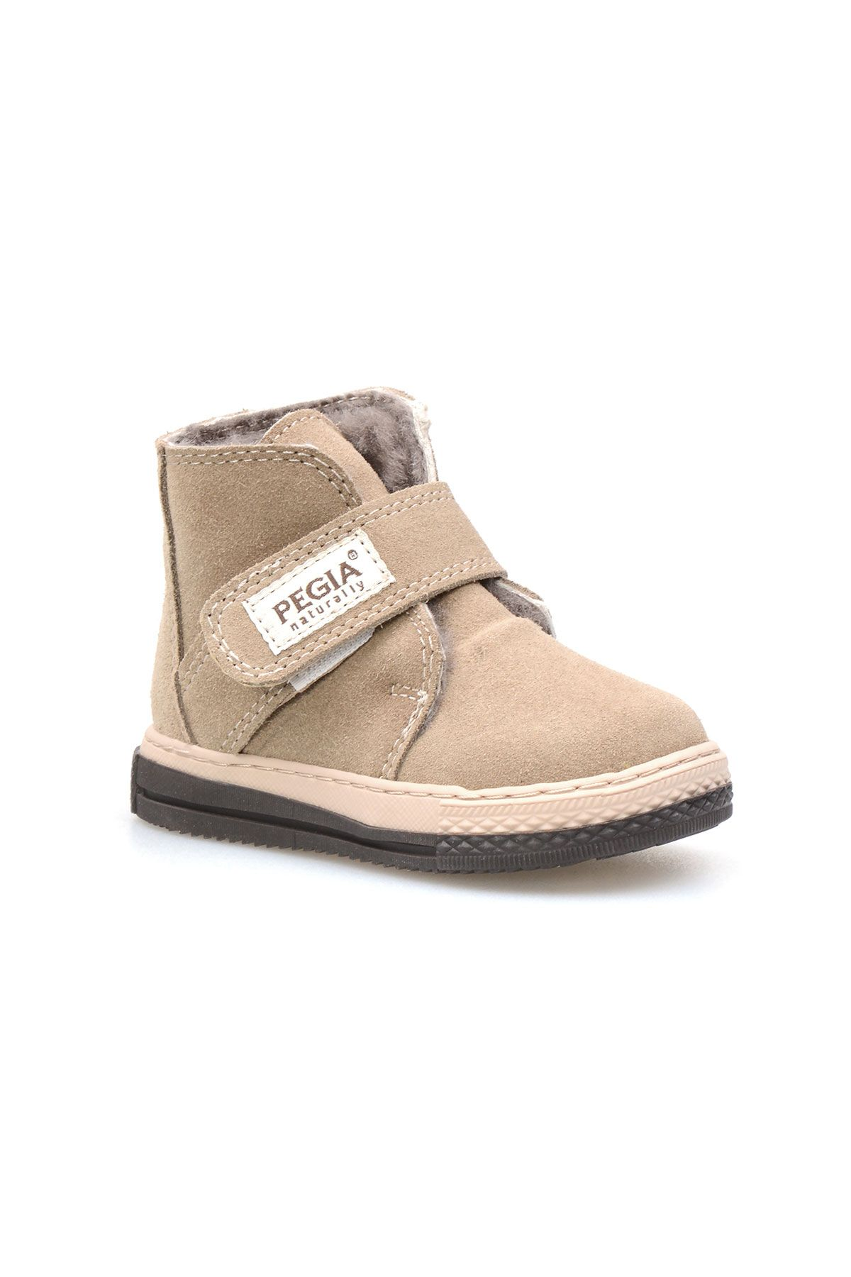 Pegia Genuine Suede Sheepskin Lined Kid's Boots 186020 Sand-colored