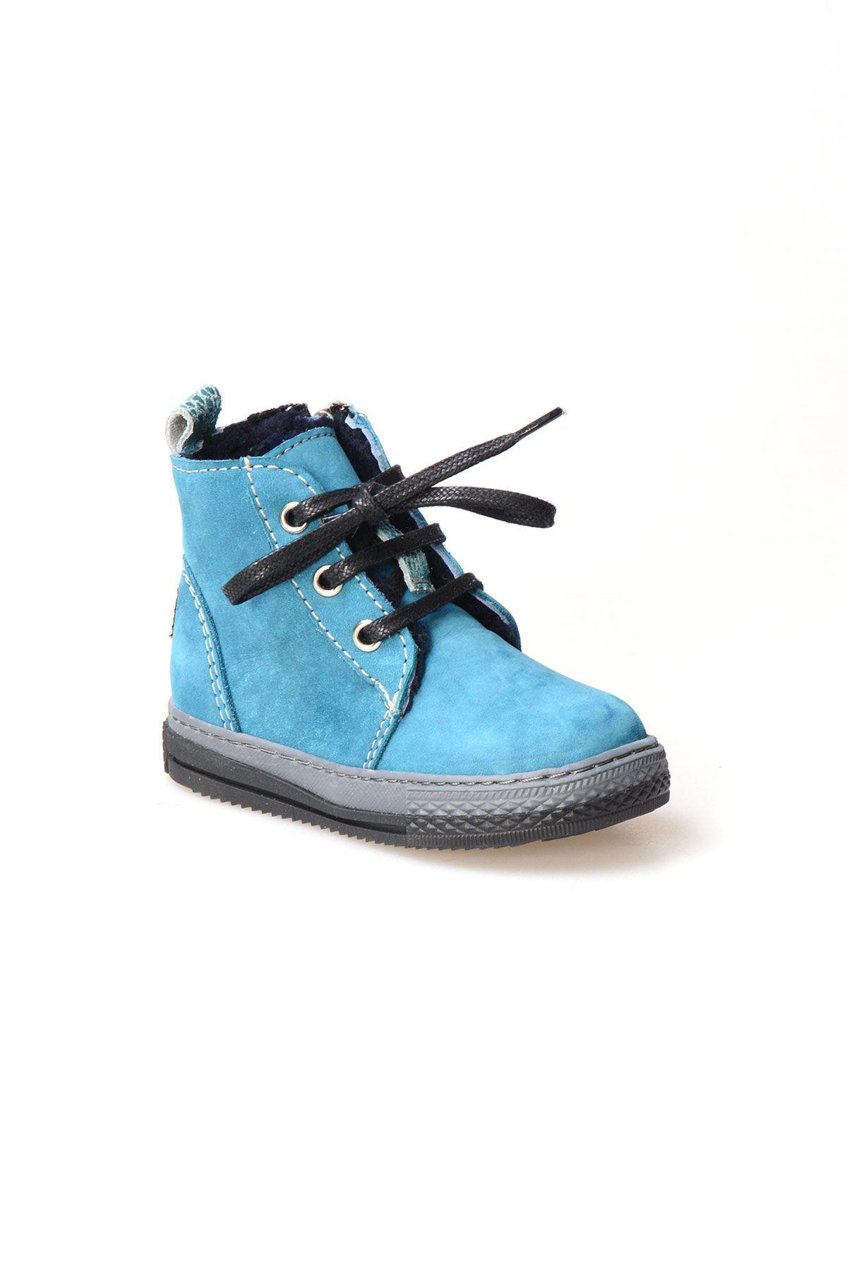 Pegia Hakiki Süet İçi Kürk Çocuk Bot 186001 Açık Mavi