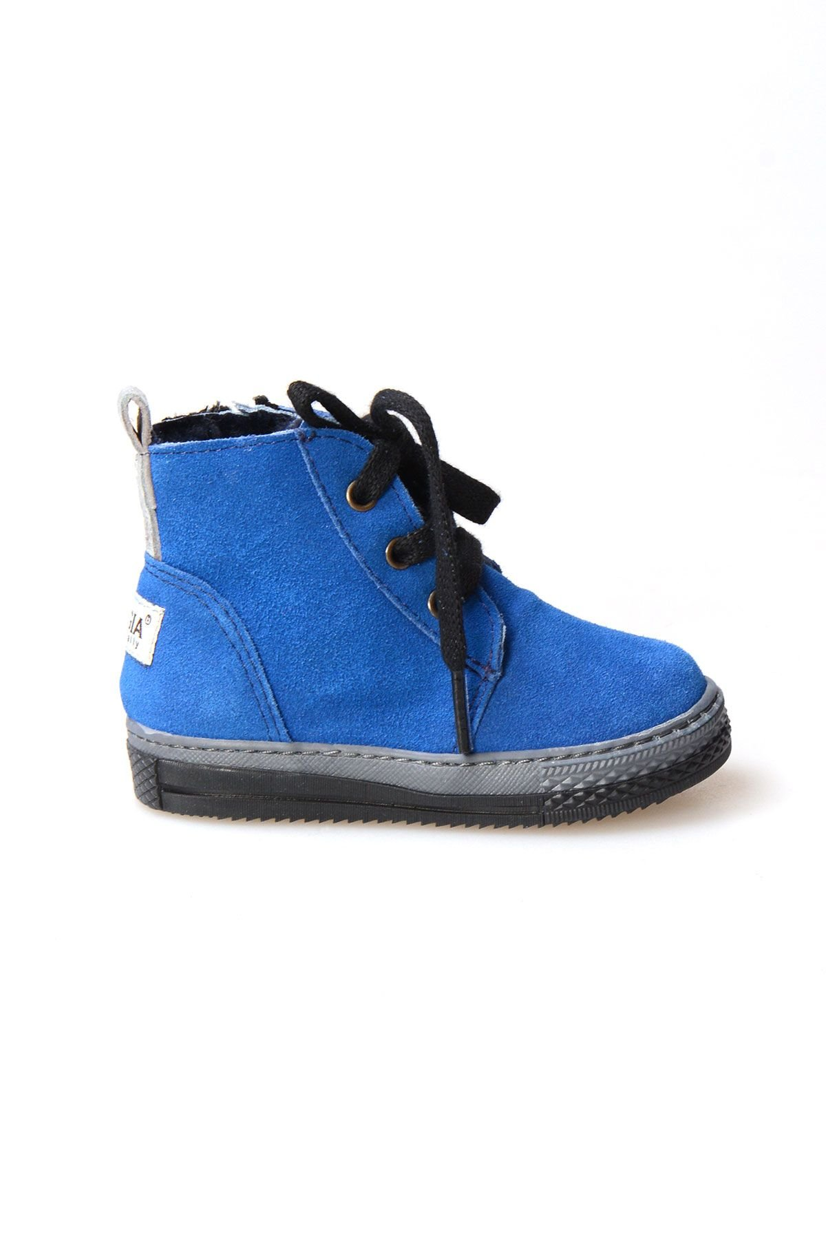Pegia Genuine Suede & Shearling Baby's Boots 186001 Blue