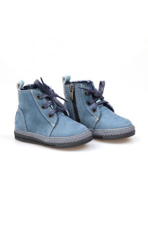 Pegia Genuine Suede & Shearling Baby's Boots 186001 Turquoise