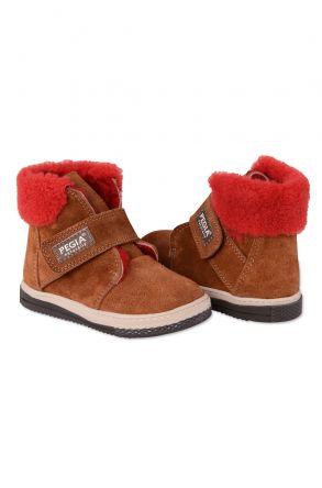 Pegia Детские Ботинки Из Натурального Овечьего Меха 186004 Рыжий