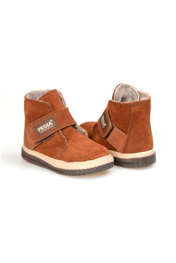 Pegia Genuine Suede Sheepskin Lined Kid's Boots 186010 Ginger