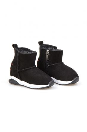 Pegia Genuine Suede & Sheepskin Kids' Sport Boots 185001 Black