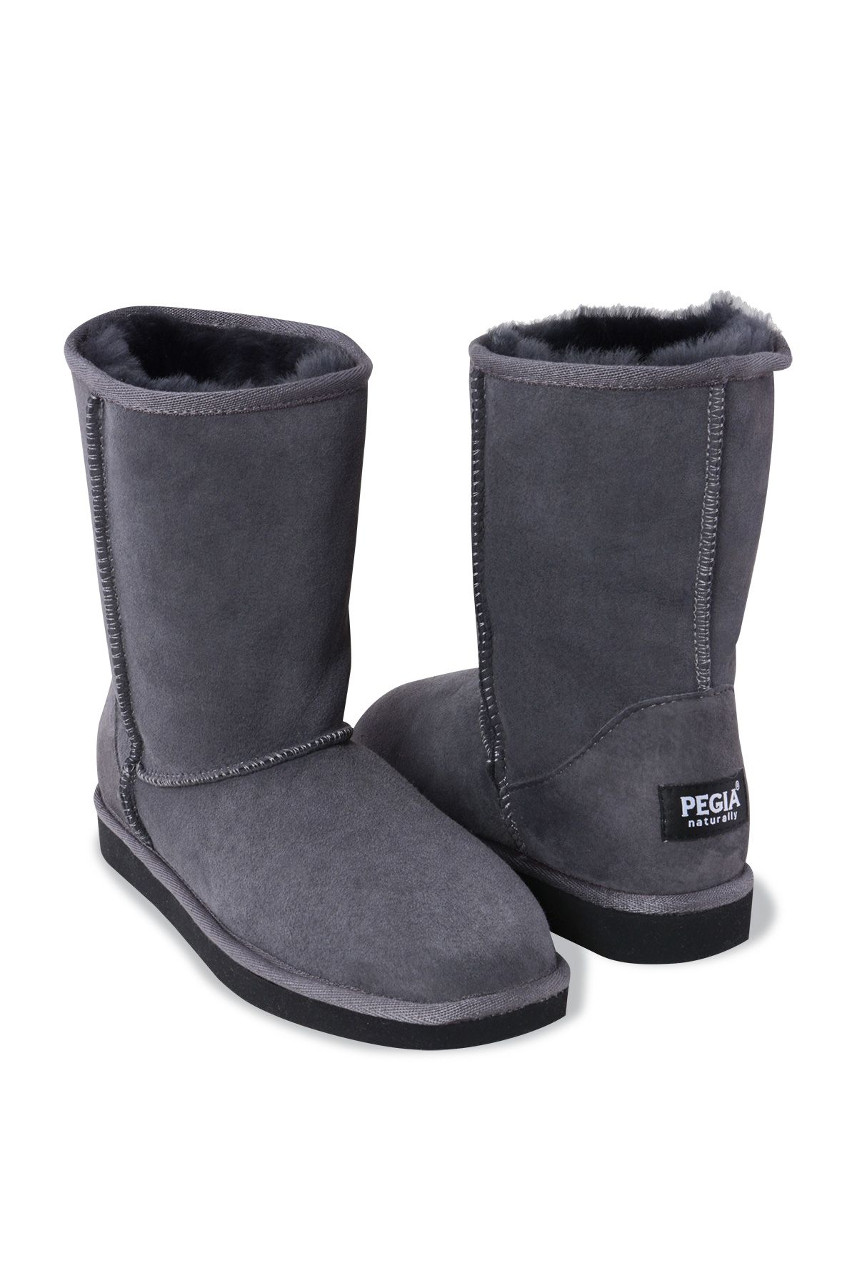 Pegia Genuine Sheepskin Classic Women's Boots 191011 Gray