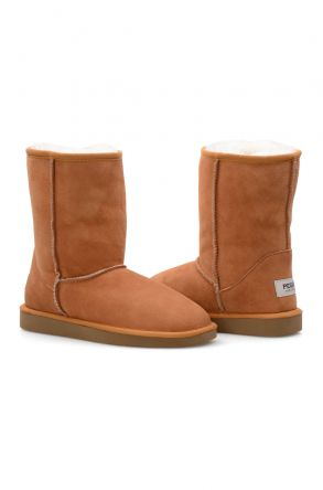 Pegia Genuine Sheepskin Classic Women's Boots 191011 Ginger