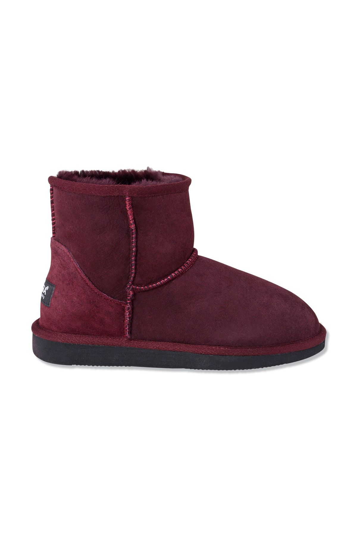 Pegia Short Genuine Suede & Sheepskin Women Boots From 191021 Plum