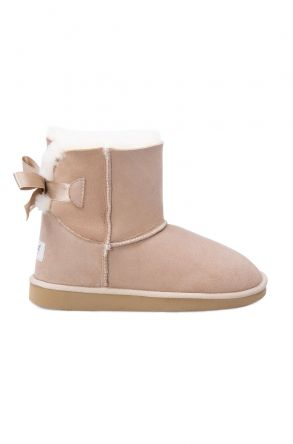 Pegia Genuine Sheepskin Women's Boots 191061 Beige