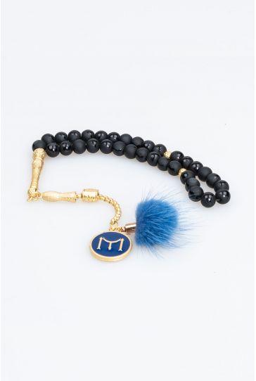 Pegia Onix Natural Stone Rosary 19TB02 Blue