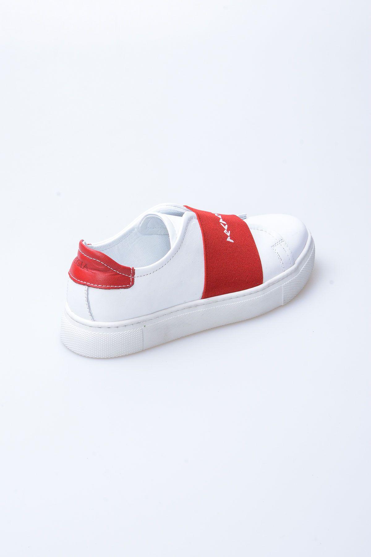 Pegia Recreation Hakiki Deri Bayan Sneaker 19REC101 Kırmızı
