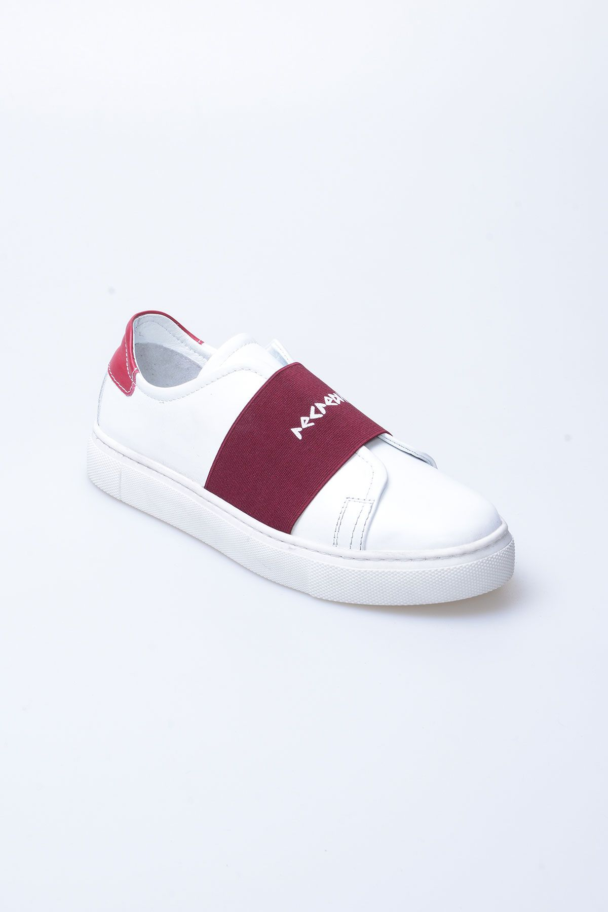 Pegia Recreation Hakiki Deri Bayan Sneaker 19REC101 Claret red