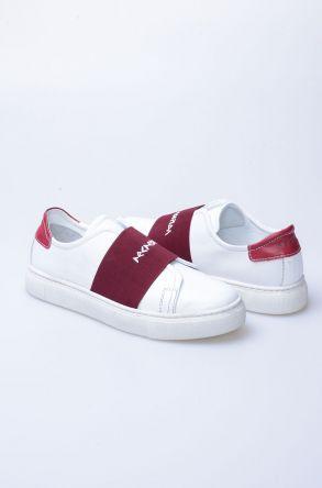 Pegia Recreation Original Leather Women Sneaker 19REC101 Claret red