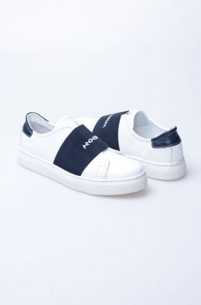 Pegia Recreation Hakiki Deri Bayan Sneaker 19REC101 Navy blue