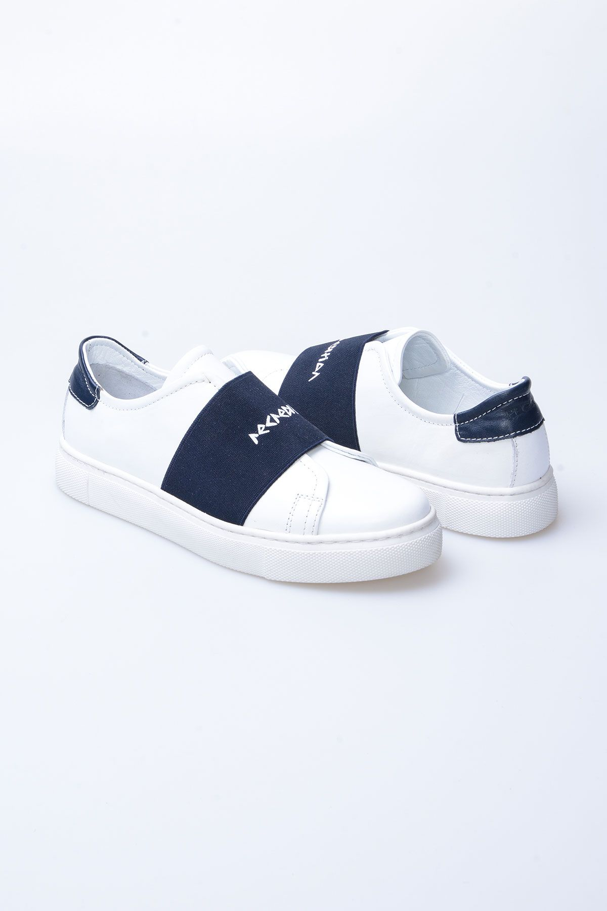 Pegia Recreation Hakiki Deri Bayan Sneaker 19REC101 Lacivert