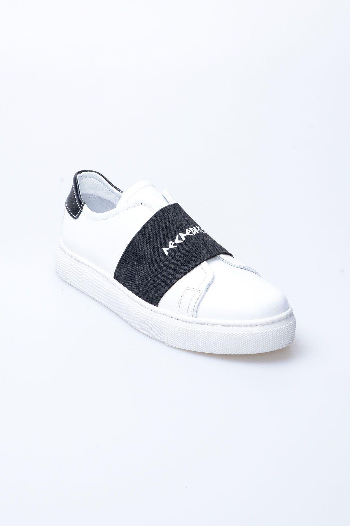 Pegia Recreation Hakiki Deri Bayan Sneaker 19REC101 Siyah