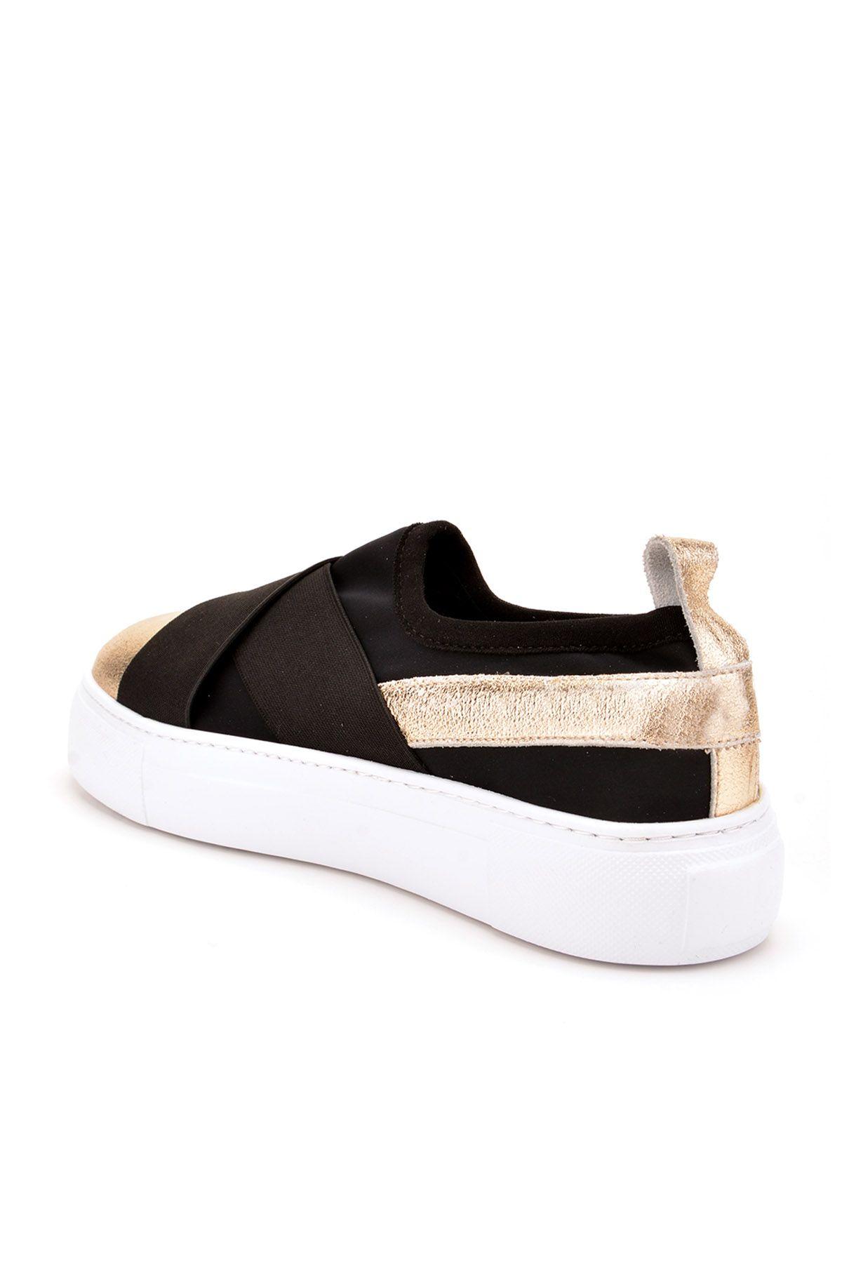 Pegia Voyage Hakiki Deri Bayan Günlük Ayakkabı REC-011 Altın
