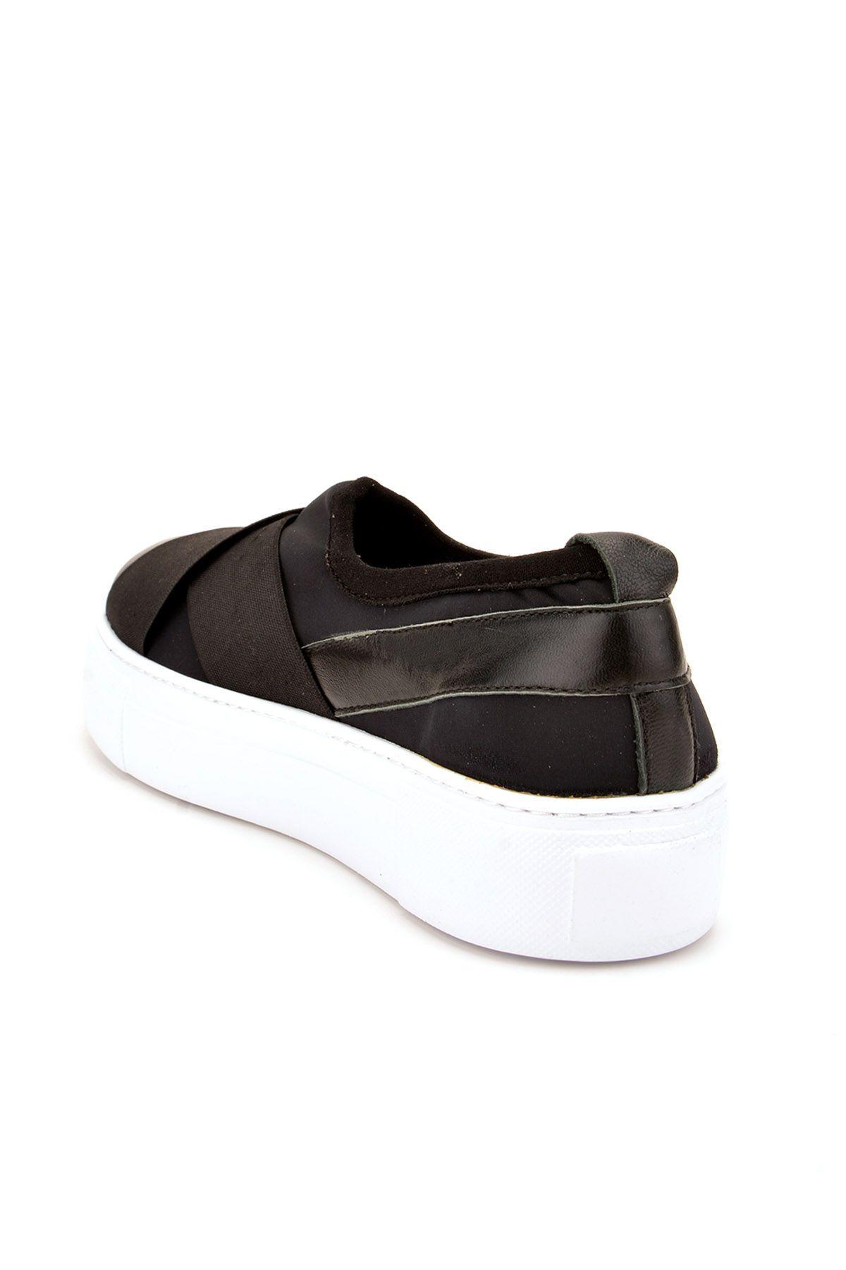 Pegia Voyage Hakiki Deri Bayan Günlük Ayakkabı REC-011 Siyah