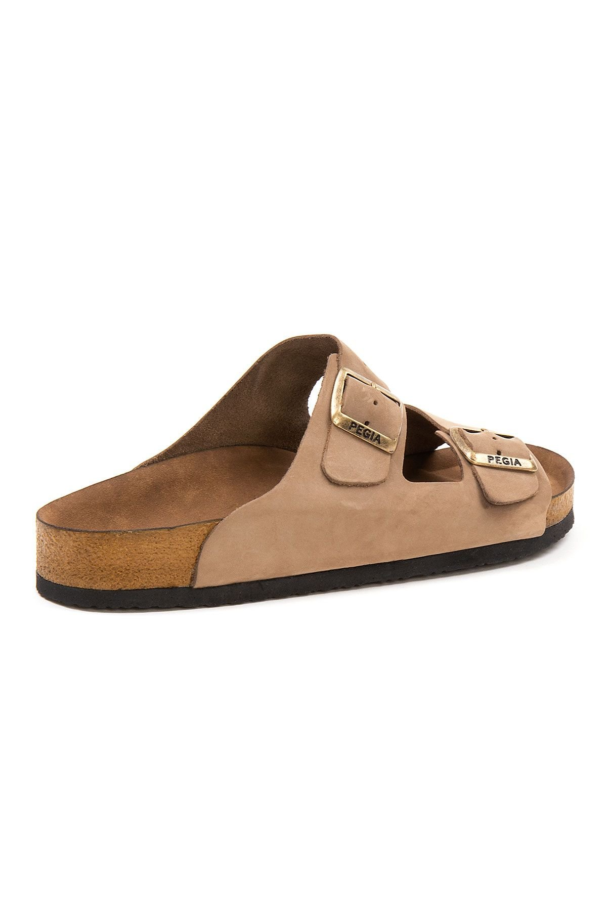 Pegia Men's Genuine Leather Slippers 215020 Sand-colored