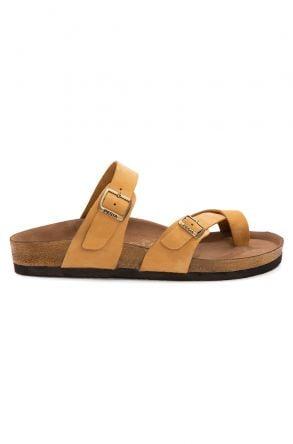 Pegia Genuine Leather Men's Slippers 215022 Yellow
