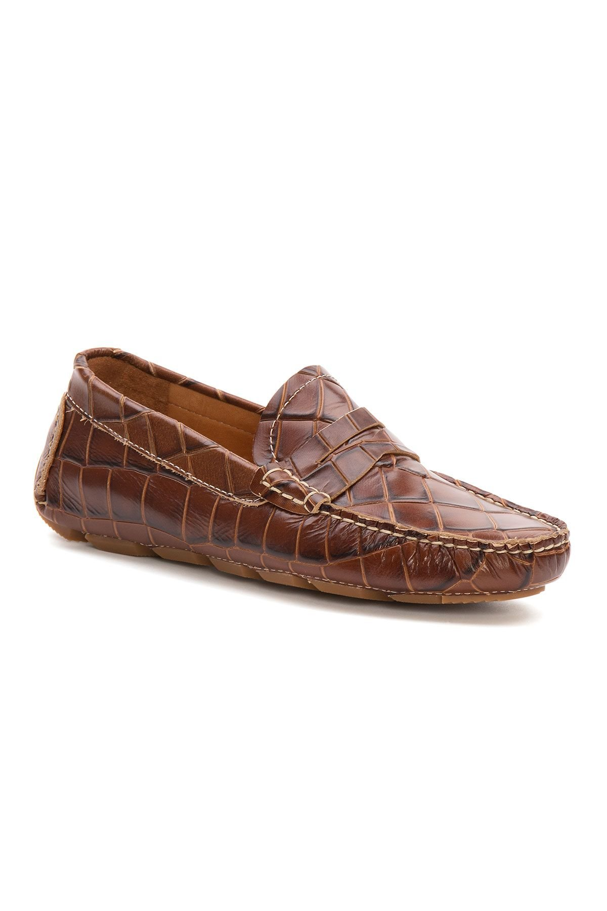 Pegia Genuine Leather Men's Loafer Shoes 500902 Brown
