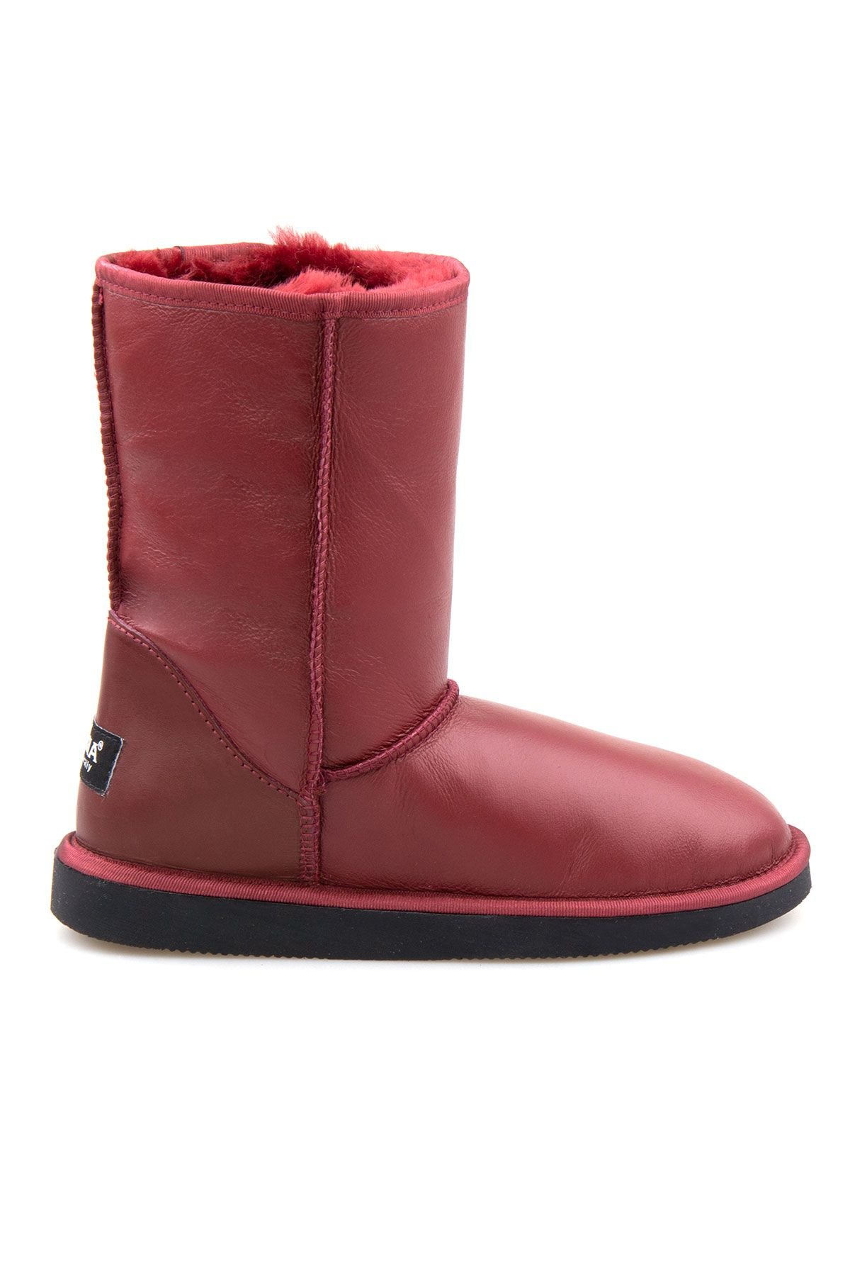 Pegia Shearling Women's Boots 191077 Claret red