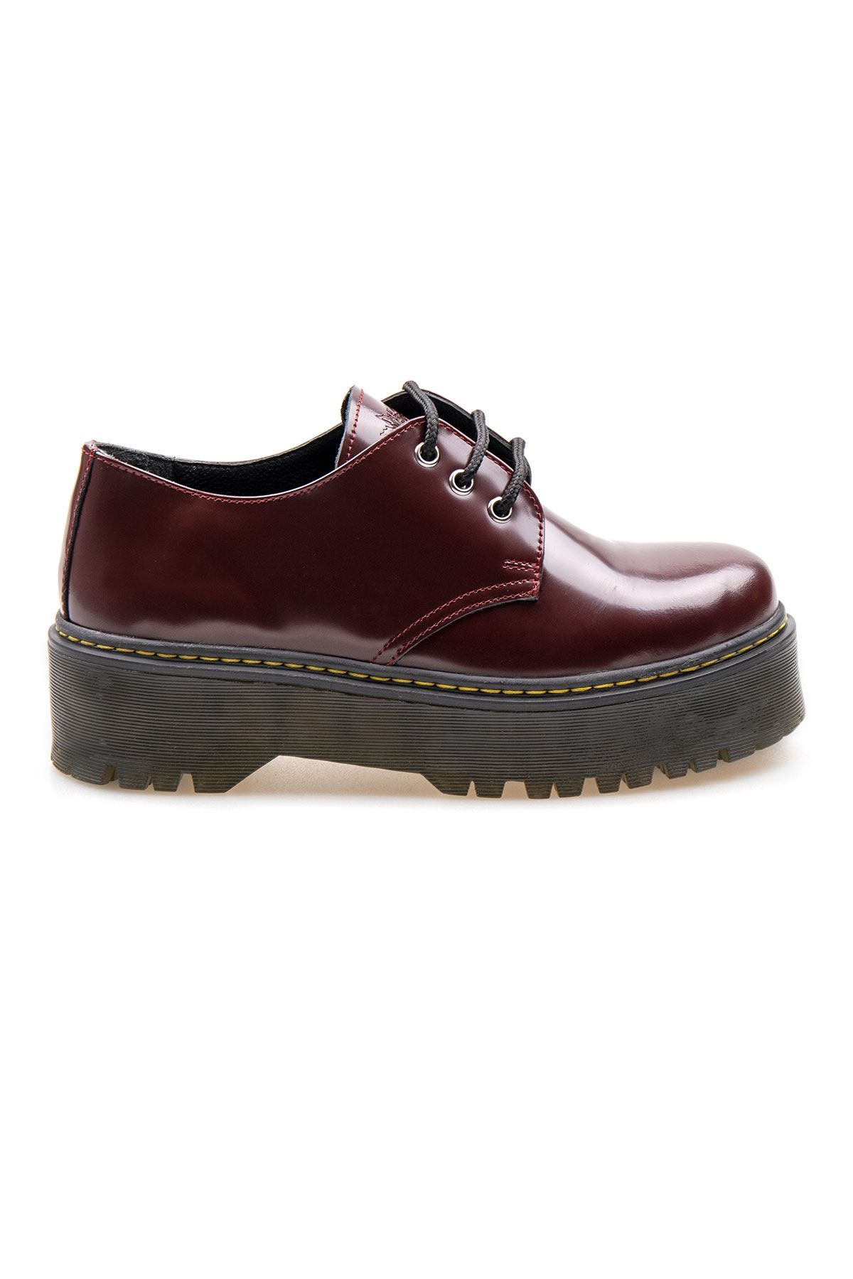 Pegia Genuine Leather Women's Shoes 500701 Claret red