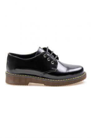 Pegia Genuine Leather Women's Shoes 500704 Black