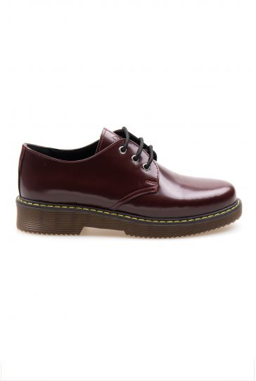 Pegia Genuine Leather Women's Shoes 500704 Claret red