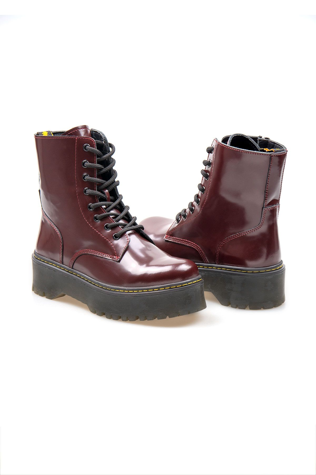 Pegia Genuine Leather Women's Boots 500711 Claret red