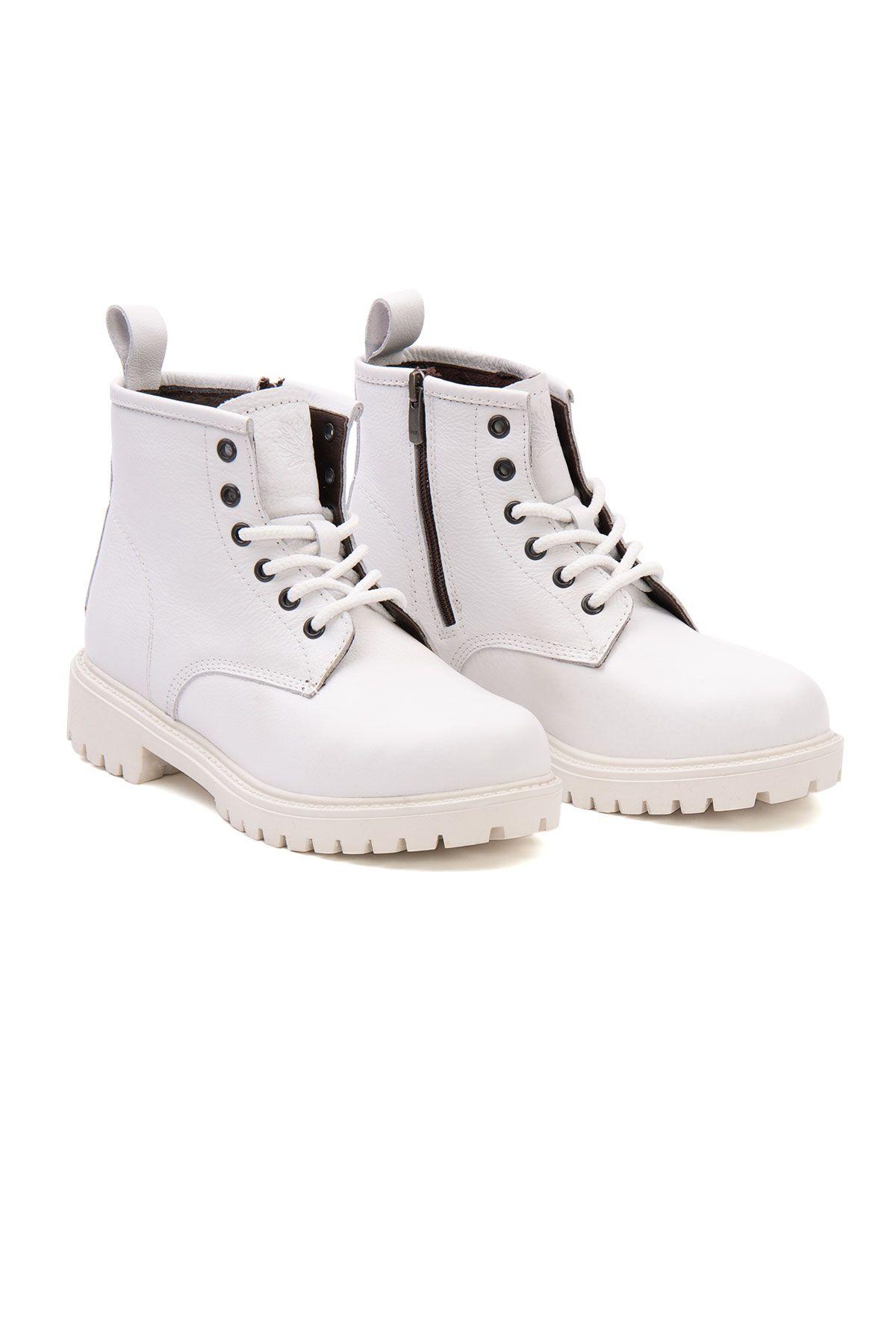 Pegia Genuine Leather Women's Boots 500806 White