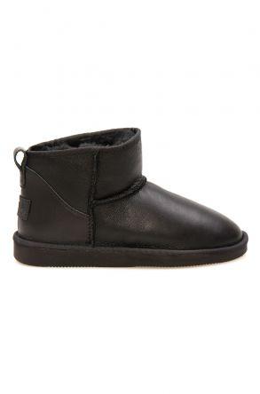 Pegia Genuine Leather Women's Mini Boots 191131 Black