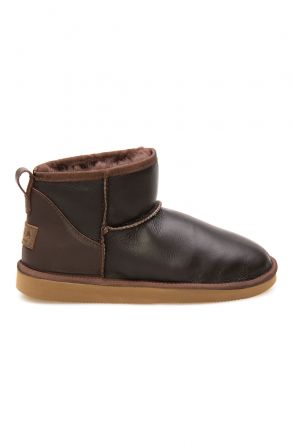 Pegia Genuine Leather Women's Mini Boots 191131 Brown