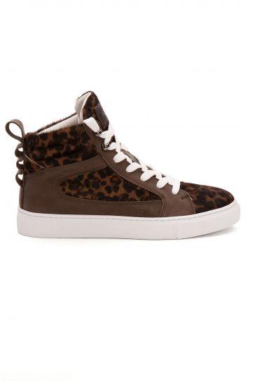 Pegia Genuine Leather Women's Sneaker LA1215 Brown
