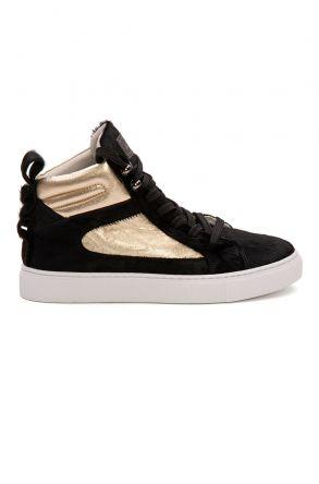 Pegia Genuine Leather Women's Sneaker LA1216 Black