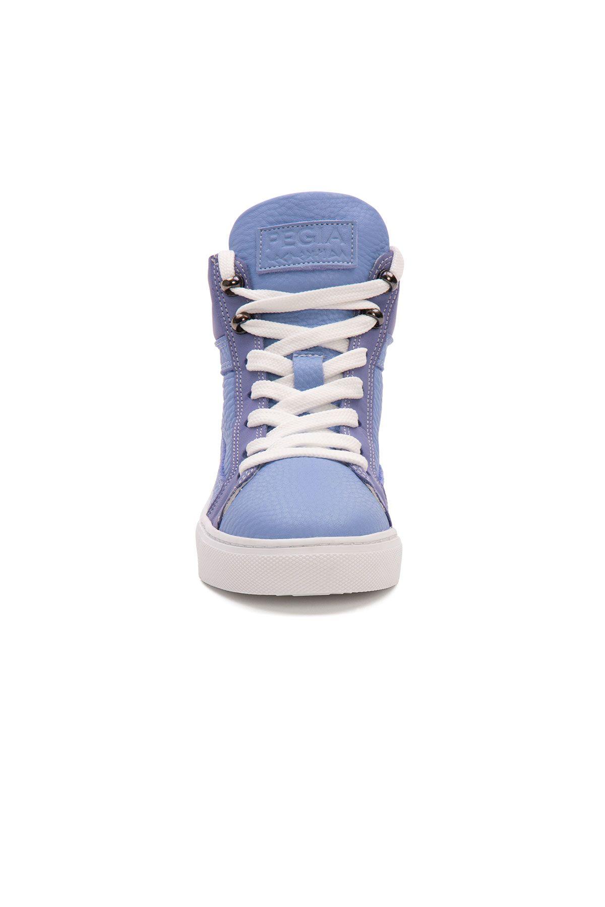 Pegia Genuine Leather Women's Sneaker LA1217 Blue