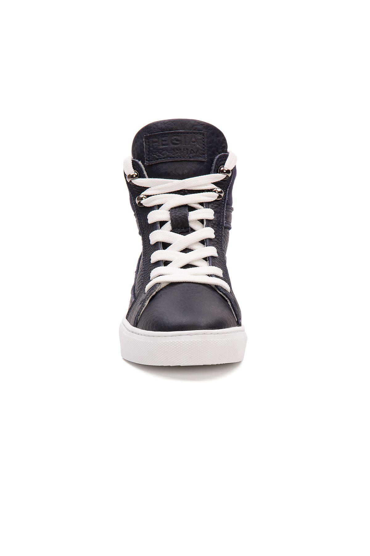 Pegia Genuine Leather Women's Sneaker LA1219 Navy blue