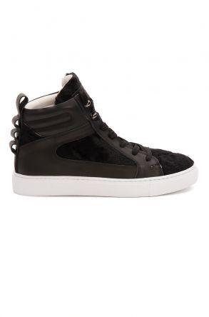 Pegia Genuine Leather Women's Sneaker LA1220 Black