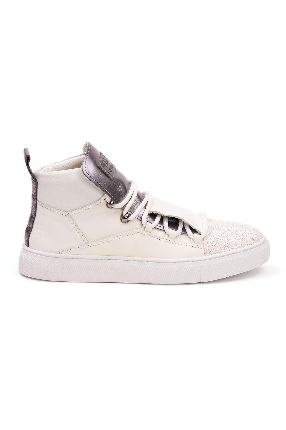 Pegia Genuine Leather Women's Sneaker LA1322 White