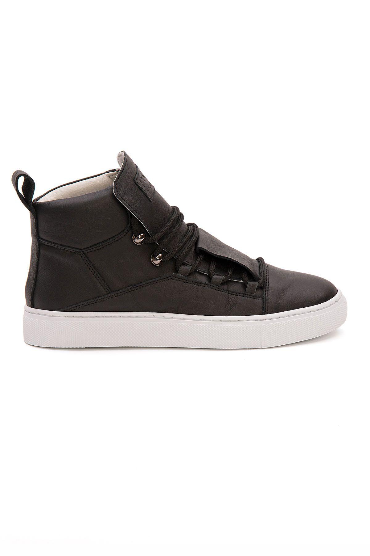 Pegia Genuine Leather Women's Sneaker LA1323 Black