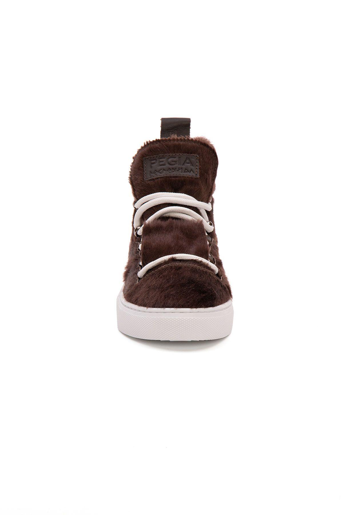 Pegia Genuine Leather Women's Sneaker LA1324 Brown