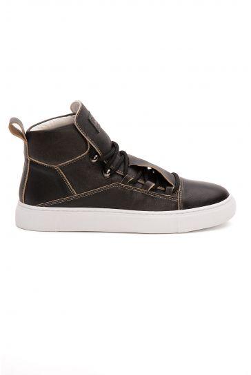 Pegia Genuine Leather Women's Sneaker LA1326 Black
